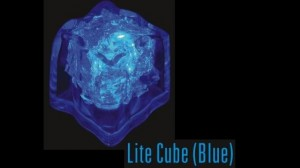 Blue Electrapour Ice Cube